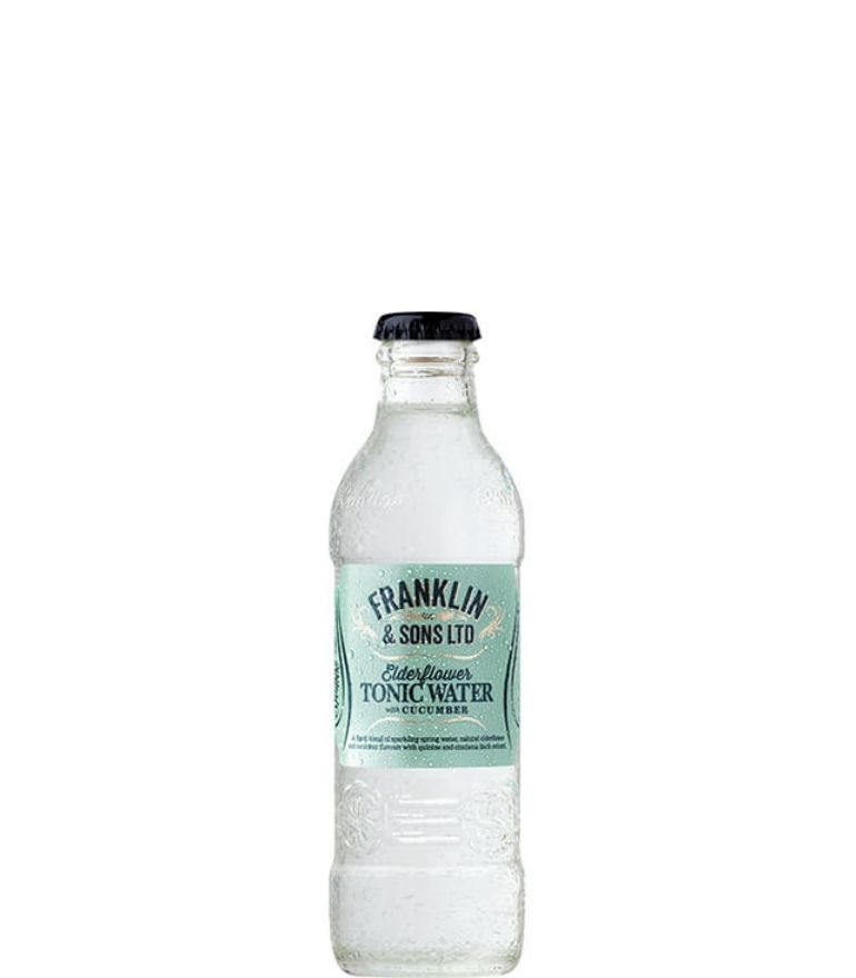 Franklin & Sons Elderflower & Cucmber Tonic Bottle 20cl X 24