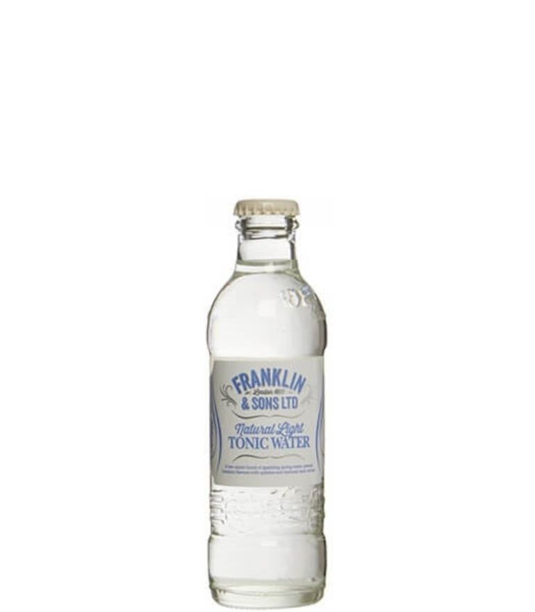 Franklin & Sons Light Tonic Water Bottle 20cl X 24