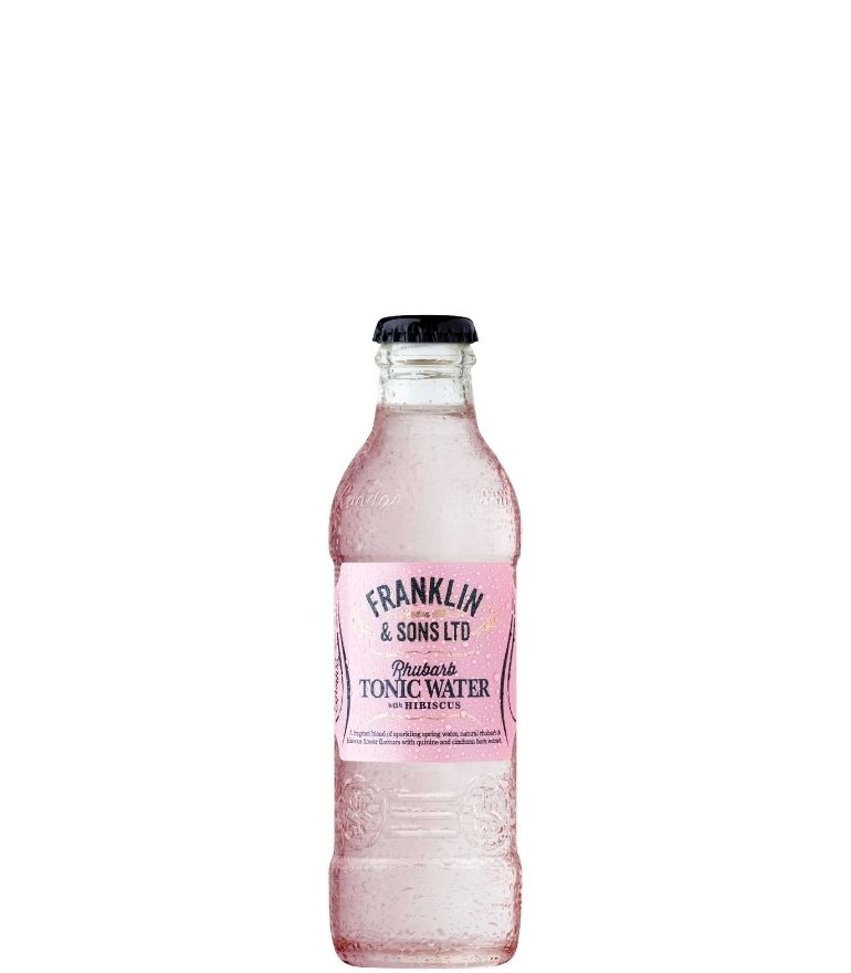 Franklin & Sons Rhubarb & Hibis Tonic Bottle 20cl X 24