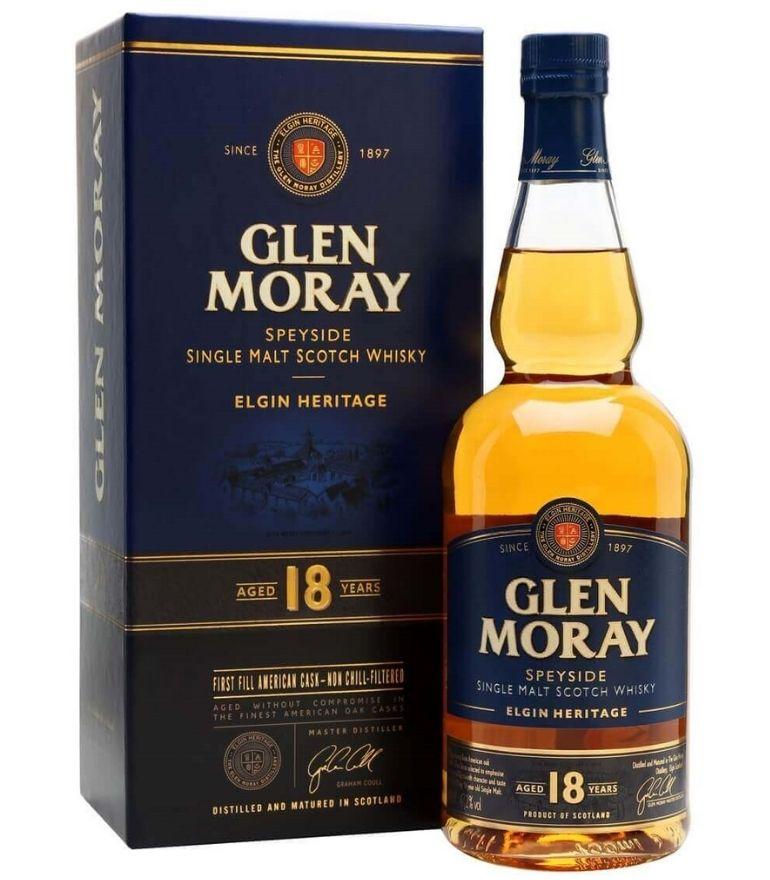 Glen Moray Single Malt Whisky 18Yrs 70cl