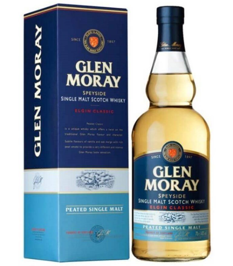 Glen Moray Single Malt Whisky Peated 70cl