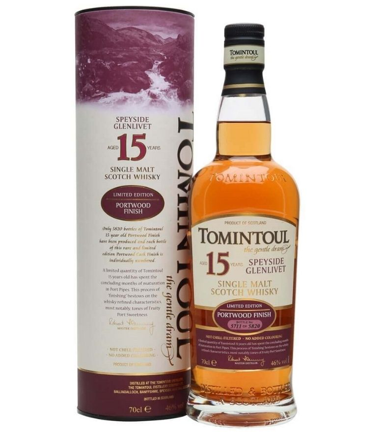 Tomintoul Single Malt Whisky 15Yrs Portwood Finish 70cl