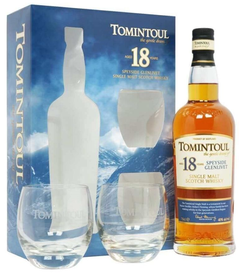 Tomintoul Single Malt Whisky 18Yrs 70cl With 2 Glass
