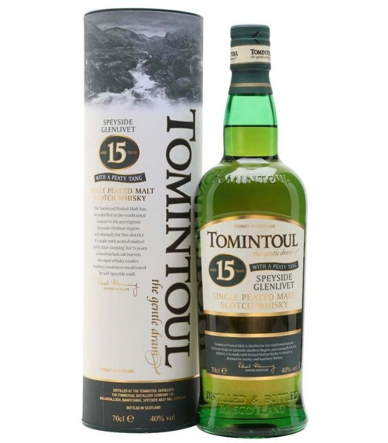 Tomintoul Single Malt Whisky 15Yrs Peaty 70cl