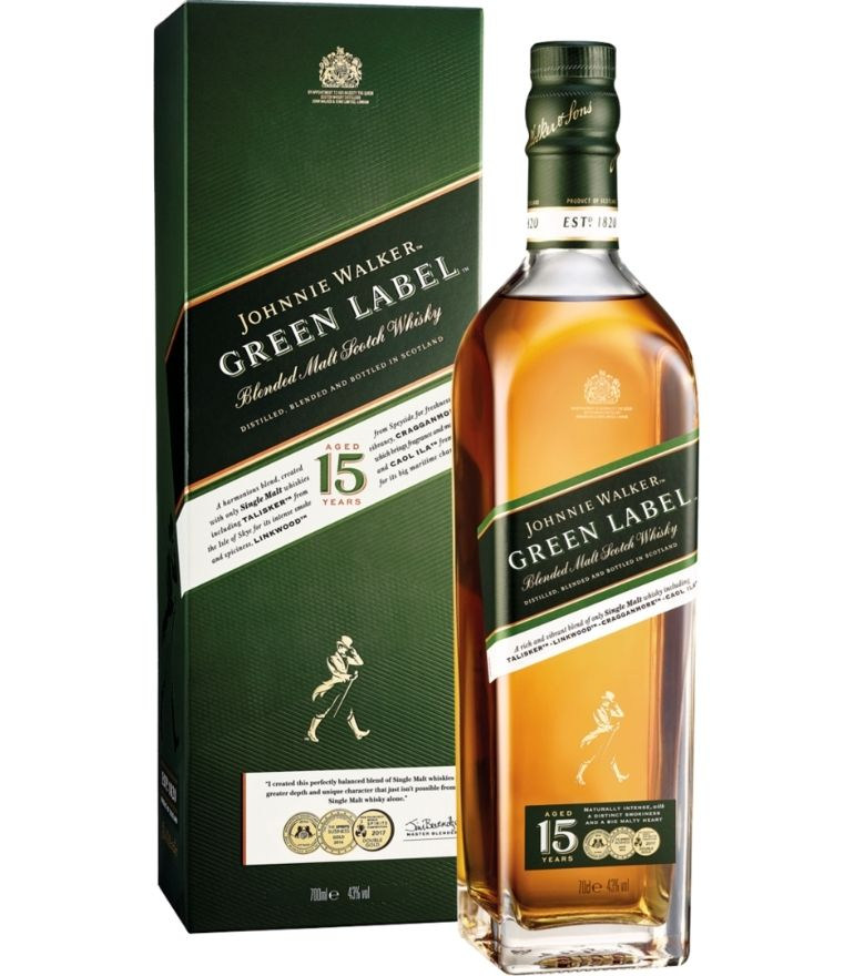 Johnnie Walker Green Label 15yr Whisky 70cl