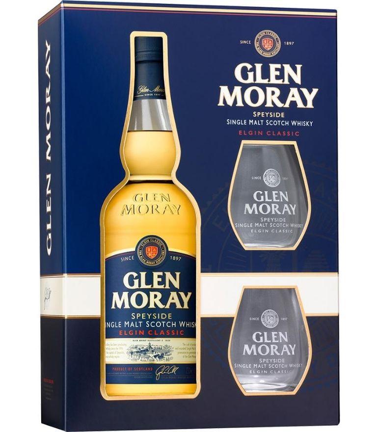 Glen Moray Classic 70cl Gift Pack 2 Glasses