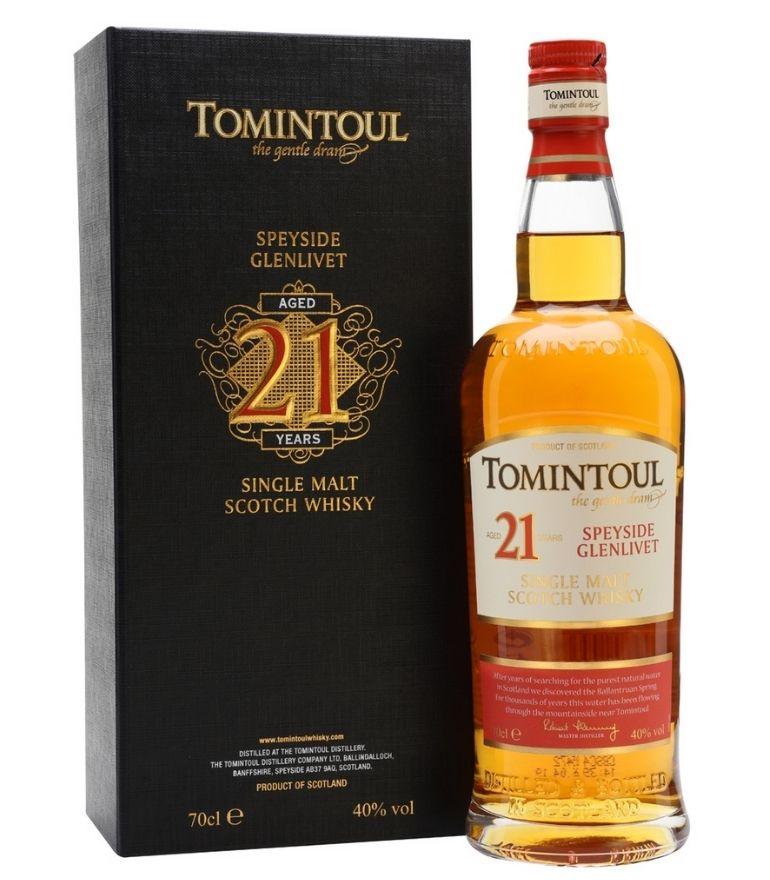 Tomintoul Single Malt Whisky 21Yrs 70cl