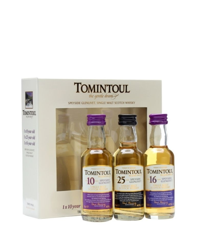 Tomintoul Triple Pack 10,25,16 years 3x5cl