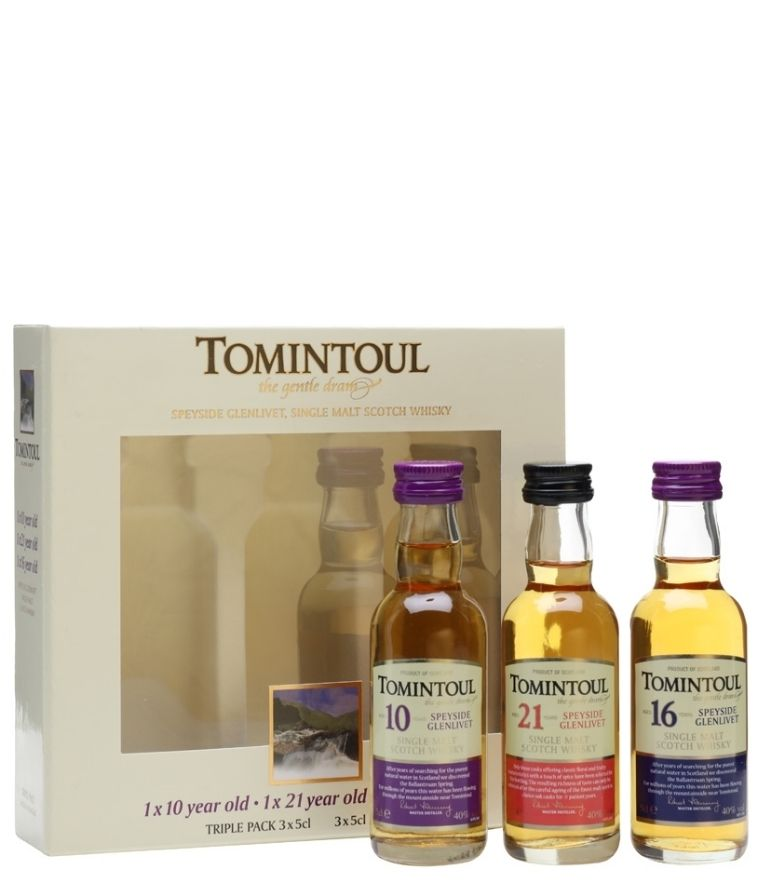 Tomintoul Triple Pack 10,21,16 years 3x5cl