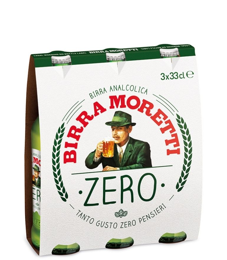 Birra Moretti Zero 33cl Pack X 3