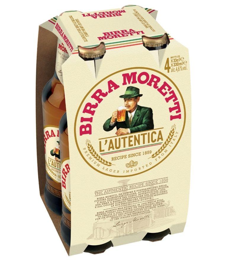 Birra Moretti 33cl Bottle Pack X 4