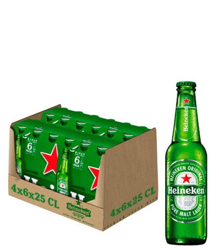 Heineken Lager 25cl Bottle Case X 24
