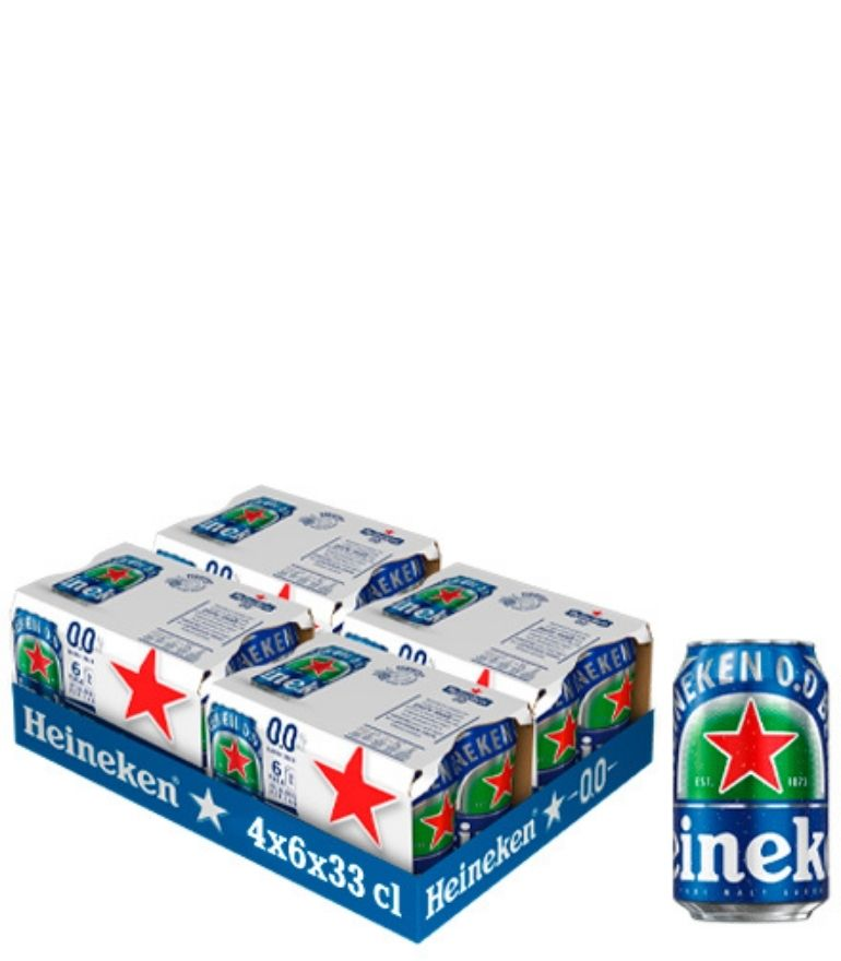 Heineken Lager 0.0 33cl Can Case X 24