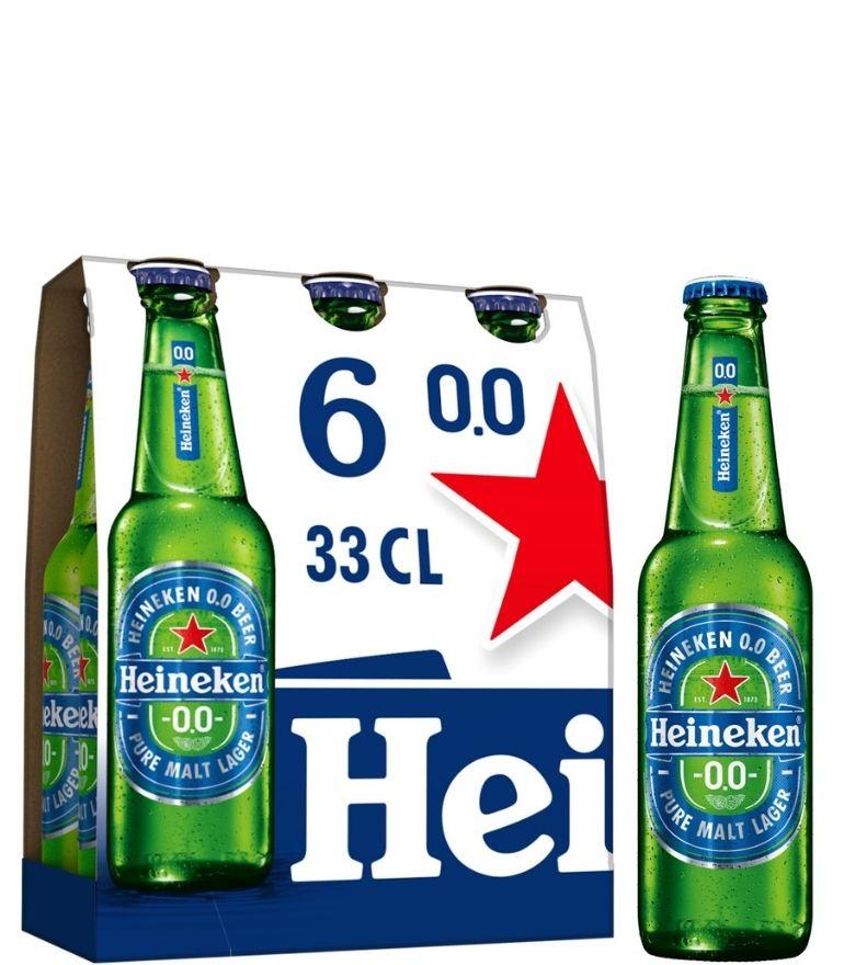 Heineken Lager 0.0 33cl Bottle Pack x 4