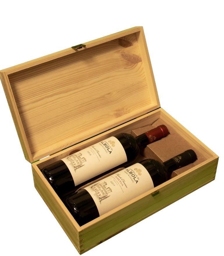 Zonin Castello Di Albola Wooden Box Chianti Classico, Classico Riserva 2x75cl