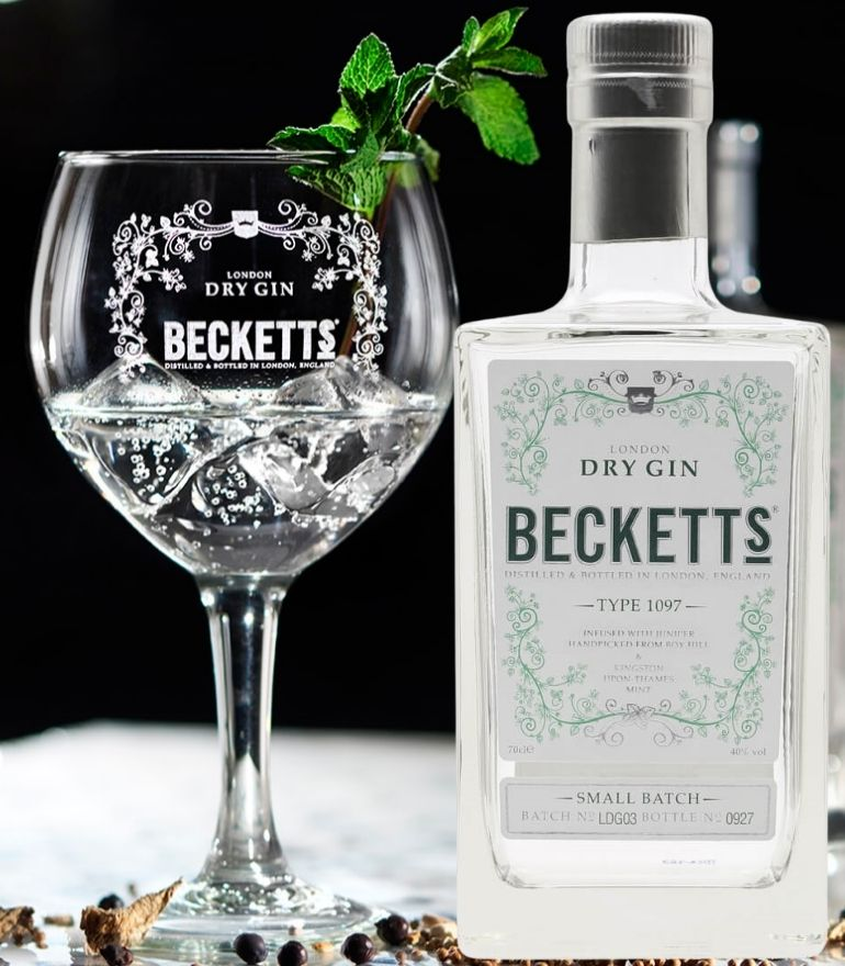 Beckett'S London Dry Gin 70cl with Free Glass