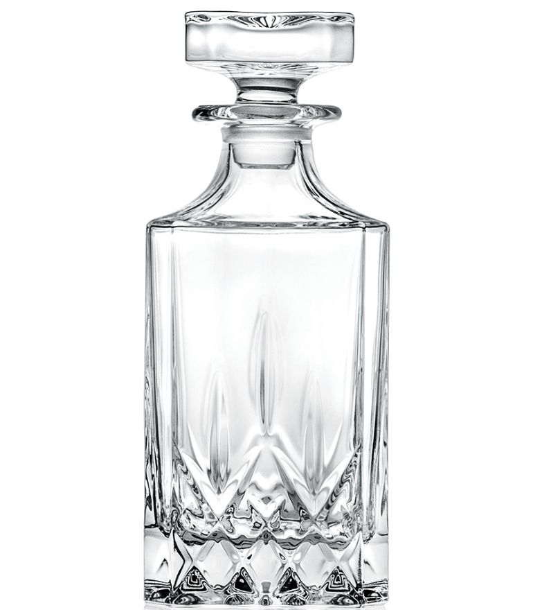 RCR Opera Square Decanter with stopper 75cl