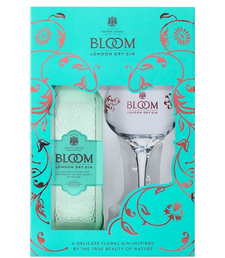 Bloom London Dry Gin with Glass 70cl