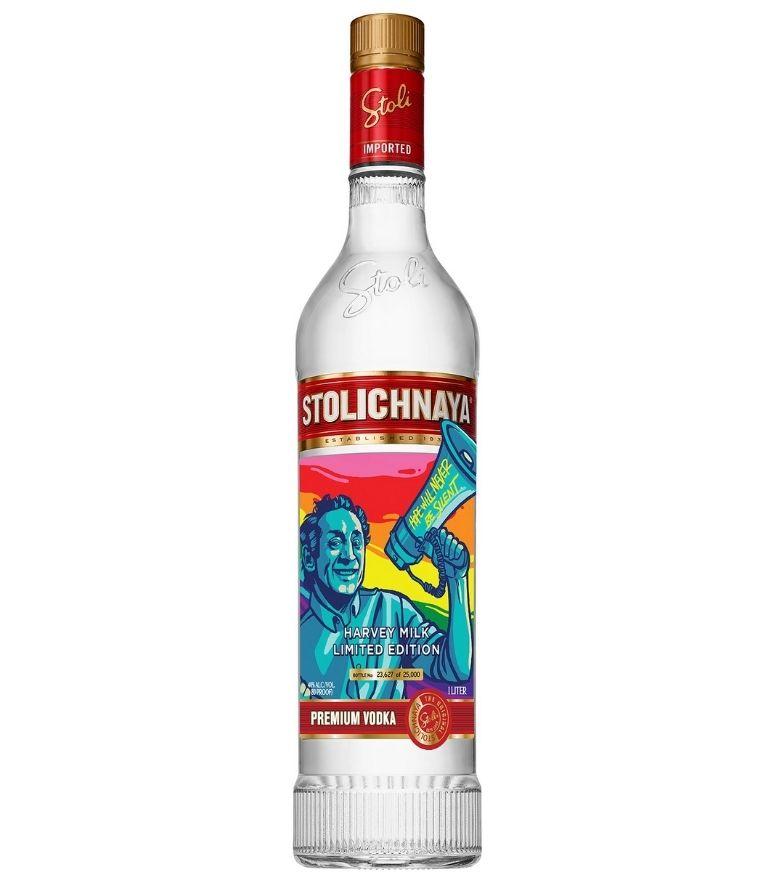 Stolichnaya Red Vodka Harvey Milk Ltd. Edit. 70cl