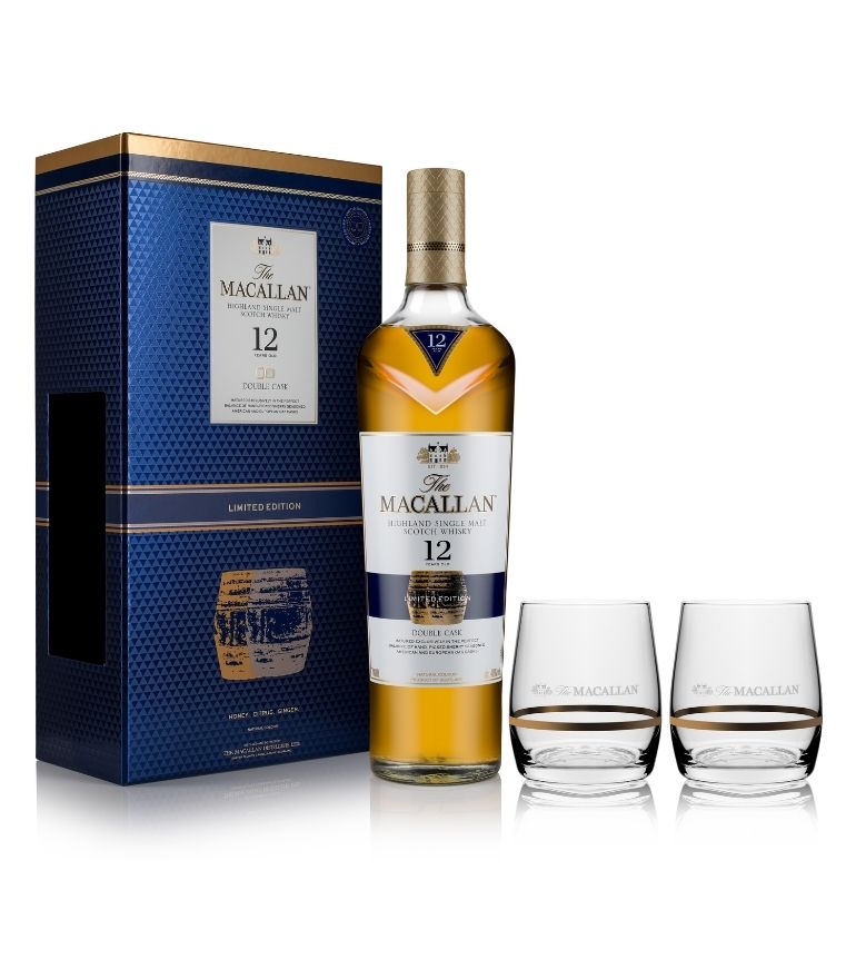 The Macallan 12 Yrs Double Cask 70cl Gift Pack with 2 Glasses