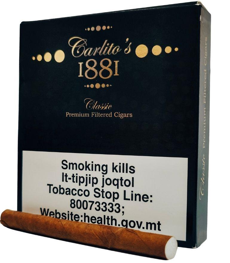 Carlito's 1881 Classic Premium Filtered Cigars 10 x 20
