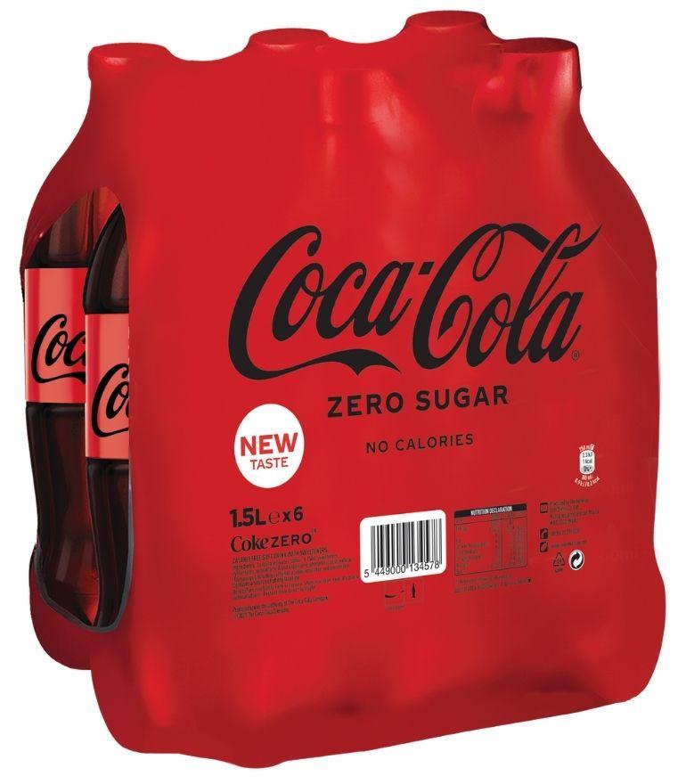 Coca Cola Zero 1.5 Litre PET x 6