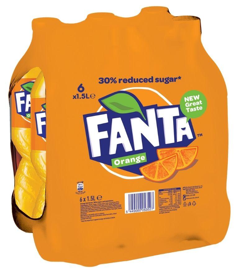 Fanta Orange 1.5 Litre PET x 6