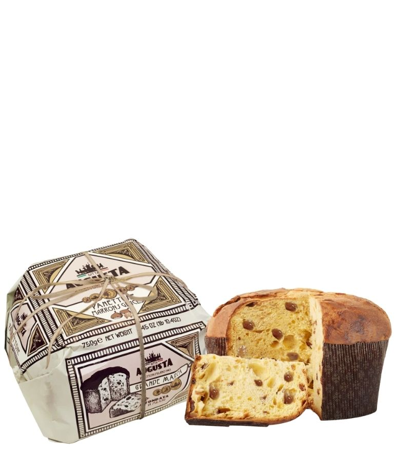Augusta Hand Wrapped Marrons Glaces Panettone 750g